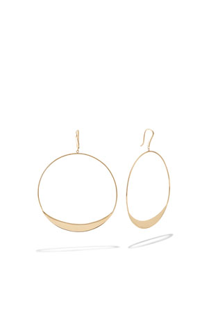 Lana 14k Eclipse Hoop Drop Earrings