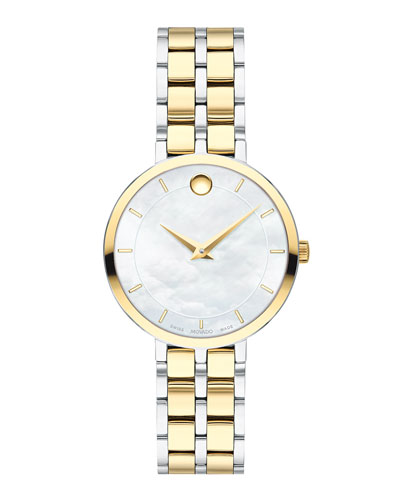 Kora Mother-of-Pearl Bracelet Watch, Two-Tone