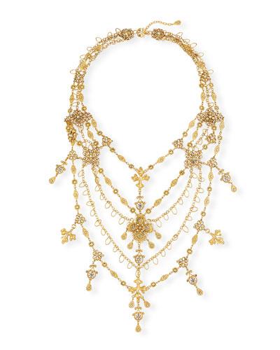 Large Filigree Layered Necklace