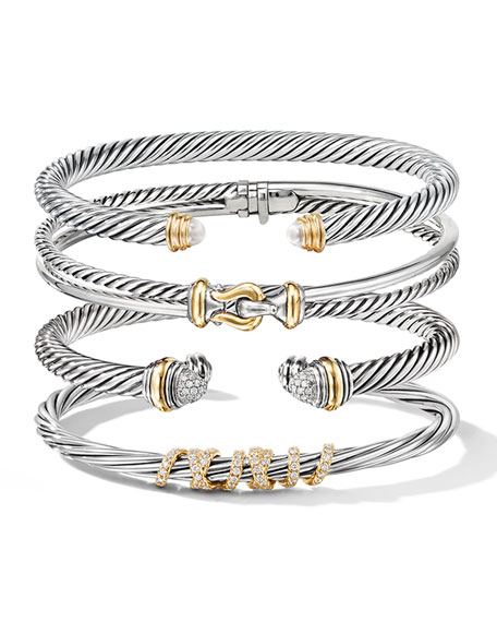 Image 4 of 4: David Yurman Cable Classics Bracelet with Semiprecious Stones & 14K Gold, 5mm