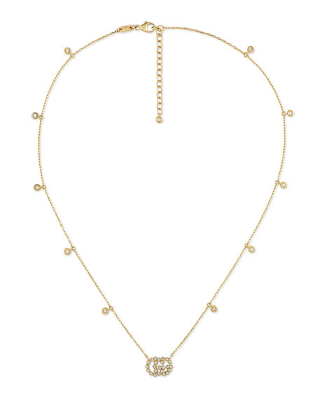 Gucci Necklaces GG RUNNING 18K GOLD DIAMOND NECKLACE