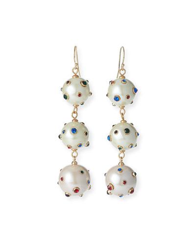Boboli Triple-Drop Earrings