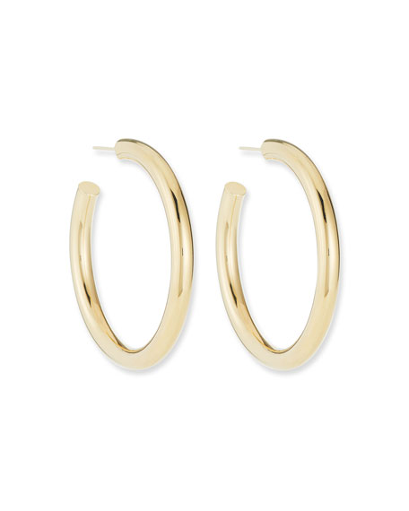 Jennifer Zeuner Lou Medium Thick Hoop Earrings, 2""