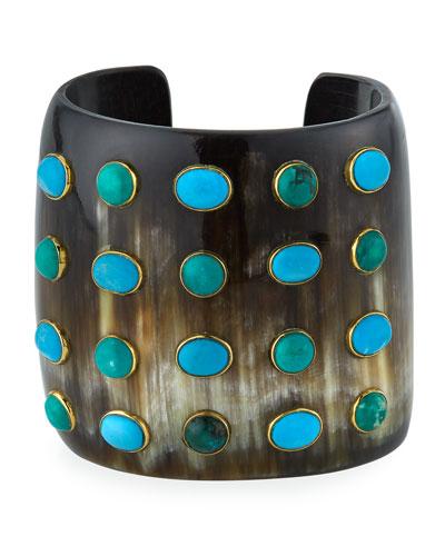 Ongoa Turquoise Wide Cuff