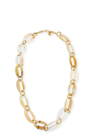 Ashley Pittman Pepo Oval-Link Horn Necklace