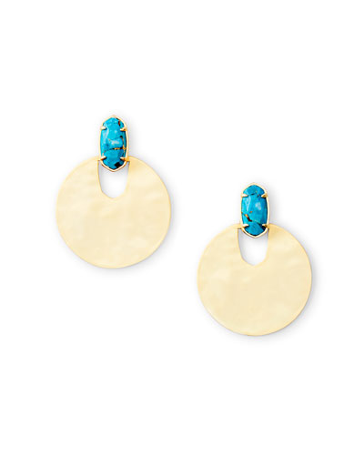 Deena Stone Post & Disc Earrings