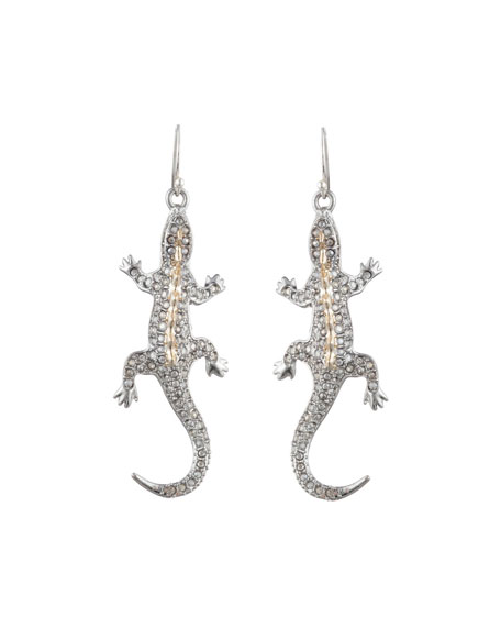 Alexis Bittar Accessories CRYSTAL ENCRUSTED LIZARD WIRE EARRINGS