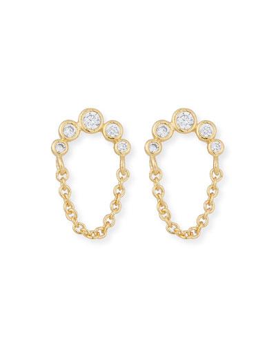 Dangle Chain Stud Earrings