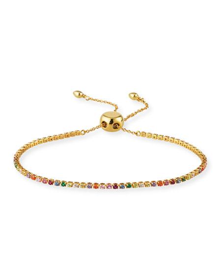 Tai Crystal Bolo Tennis Bracelet, Rainbow