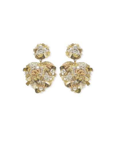 Sagrado Heart-Drop Earrings