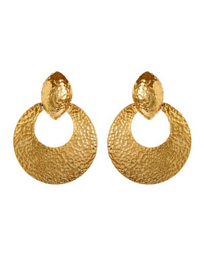 Textured Hoop Clip-On Earrings