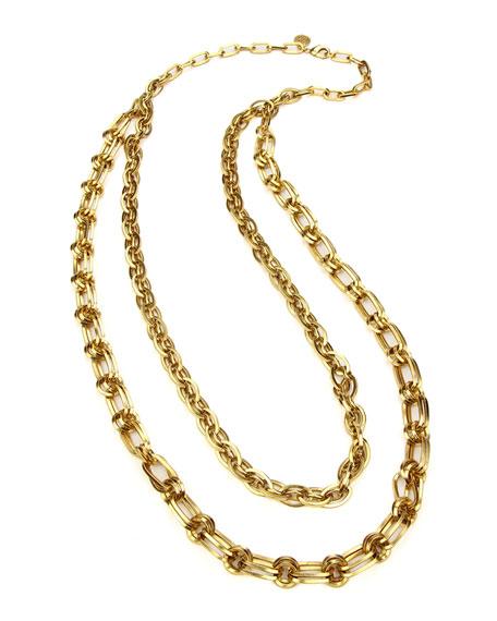 Ben-Amun Long Double-Chain Necklace