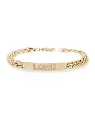 b056cbbfd4131 Zoe Chicco 14k Large Curb-Chain Diamond LOVE Bracelet