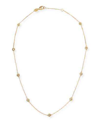 Barocco 18k Diamond-Station Necklace