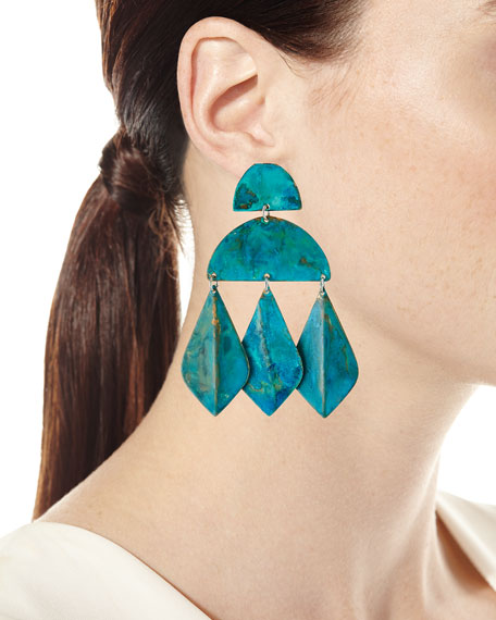 We Dream in Colour Kalaiya Geometric-Drop Earrings