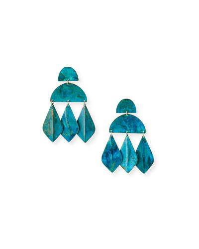 Kalaiya Geometric-Drop Earrings