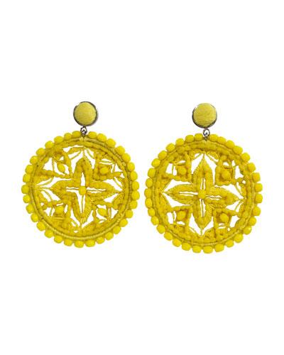 Gwen Pompom Drop Earrings