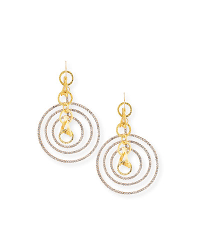 Crystal Multi-Hoop Earrings