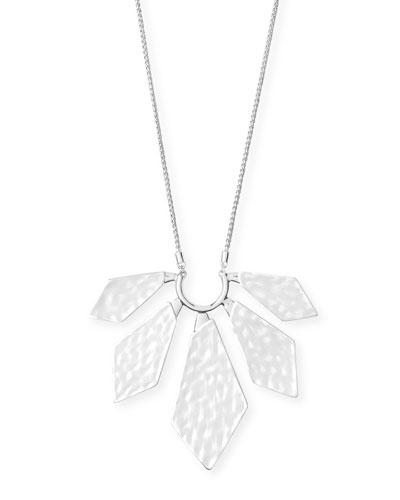 Mari Geometric Pendant Necklace  Silver