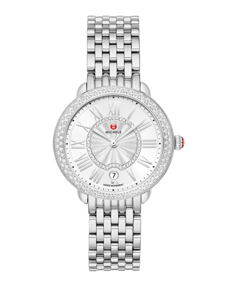 Michele Serein Mid Diamond Watch W Date Neiman Marcus