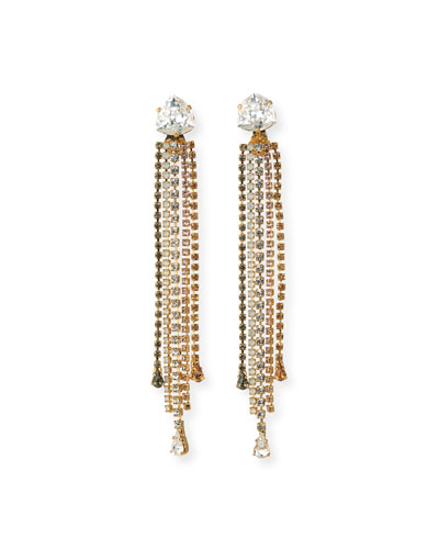 Isla Detachable Crystal Earrings, Golden