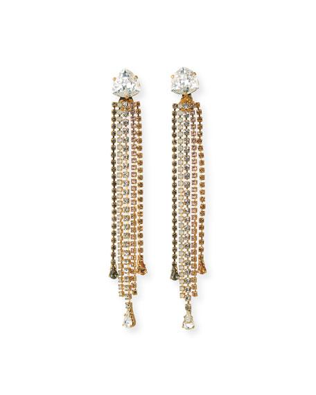Rebekah Price Isla Detachable Crystal Earrings, Golden
