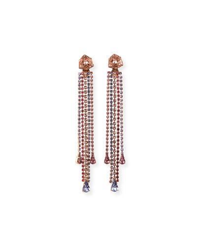 Isla Detachable Crystal Earrings, Rose