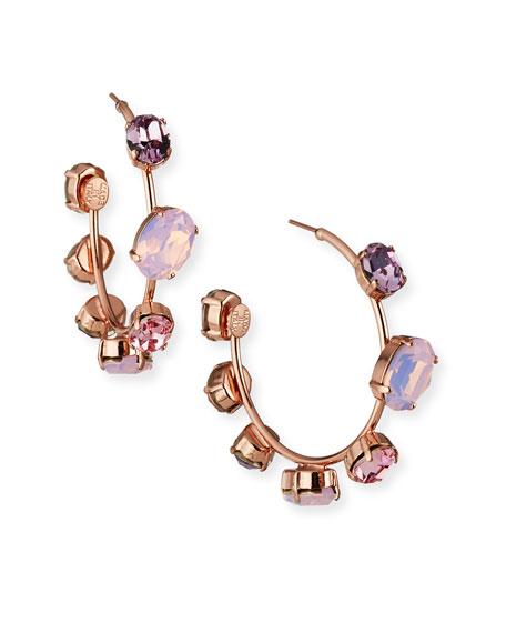 Rebekah Price Jenny Crystal Hoop Earrings, Rose