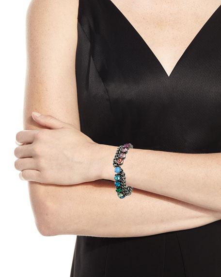 Rebekah Price Scout Crystal-Chain Bracelet, Silver