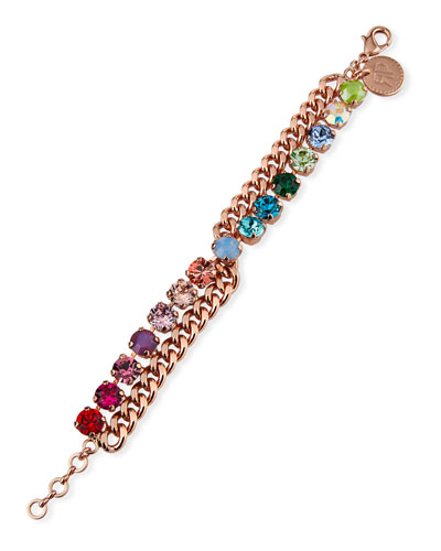 Scout Crystal-Chain Bracelet, Rose