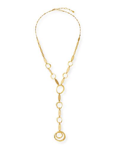 Circle-Link Y-Drop Necklace
