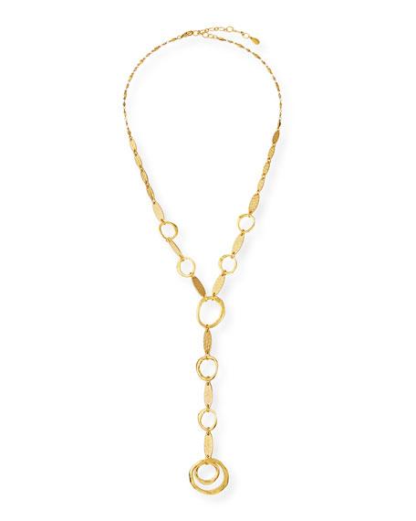Sequin Circle-Link Y-Drop Necklace