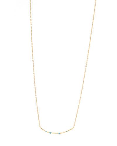 Cleo Bar Necklace w/ Stones