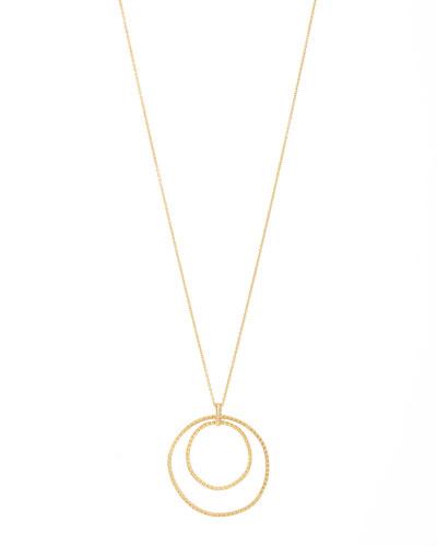 Bali Double-Hoop Pendant Necklace
