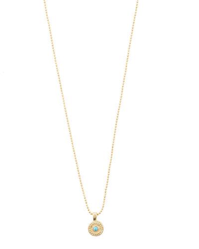 Cruz Coin Necklace w/ Stone