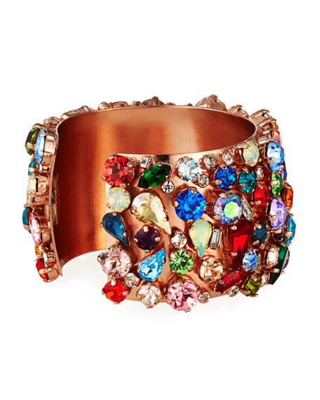 Rebekah Price Felicia Mixed-Crystal Cuff Bracelet