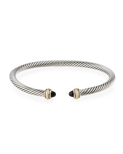 Cable Bracelet w/ 18k Gold & Gemstones  Size S-L