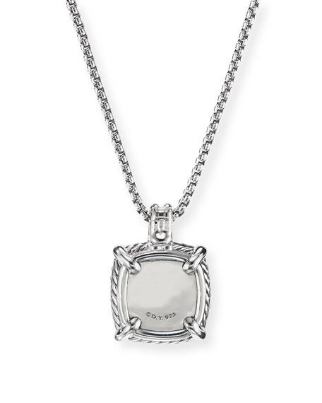 David Yurman Chatelaine Diamond Pave Pendant Necklace w/ Black Orchid