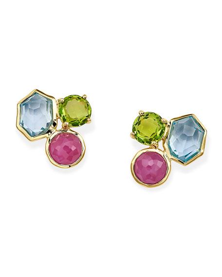 Ippolita Rock Candy 3-Stone Stud Earrings in Summer Rain