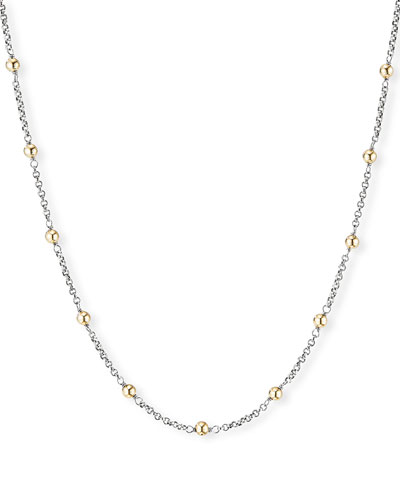 Cable Collectibles 18k Gold-Bead & Chain Necklace