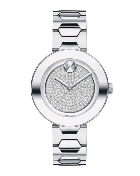 Movado 32mm BOLD Crystal Bracelet Watch