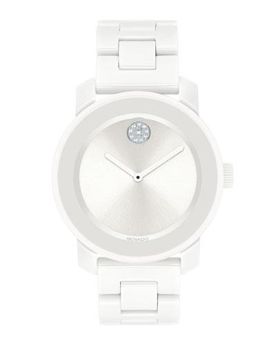 36mm BOLD Ceramic Bracelet Watch  White