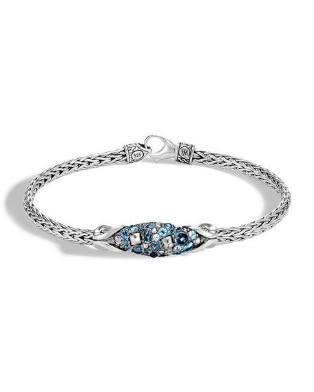John Hardy Classic Chain Blue Topaz Bracelet