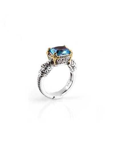 Blue Topaz Ring  Size 7 & 8