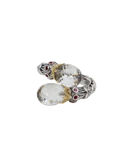 Konstantino Pythia Crystal & Corundum Bypass Ring