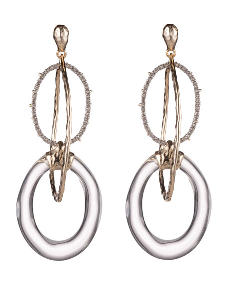 Alexis Bittar Hammered Orbiting-Link Earrings