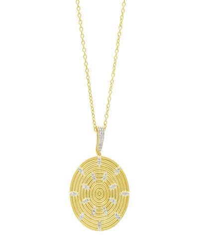 Fleur Bloom Empire Circular-Ring Pendant Necklace