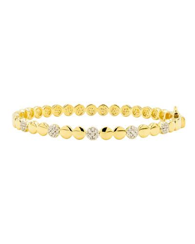 Radiance Hinge Bangle  Yellow Gold