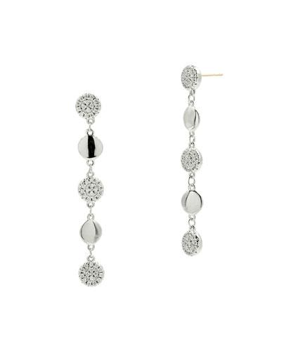 Radiance Linear Drop Earrings  Silver