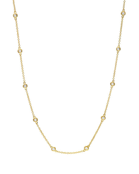 Zoe Lev Jewelry 14k Gold Diamond By-the-Yard Necklace